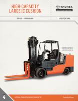 High Capacity Large Internal Combustion Cushion Tire Forklift Document