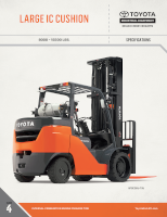 Large Internal Combustion Cushion Tire Forklift Document