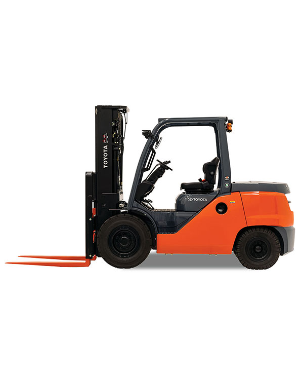 Toyota Mid Internal Combustion Pneumatic Tire Forklift for Sales